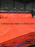 Coperchio arancione/blu della tela incatramata del PE, poli strato della tela incatramata