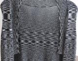 Lange Hülsen-Opean gekopierte Strickwaren-Wolljacke für Frauen