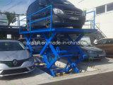 Elevador de tesoura hidráulica para estacionamento em garagem