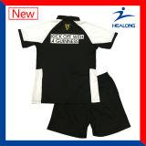 La coupure personnalisée par logo de transfert thermique de Healong et cousent le jeu de polo