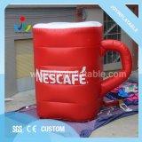 Tasse de thé de café gonflable à coudre modèle pour la promotion de la publicité extérieure