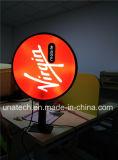 Cadre en soie d'éclairage LED de panneau de PC d'impression de vide d'image en plastique extérieure de supports publicitaires