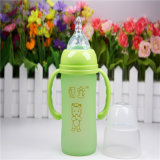 180ml Thermal Silica Gel Baby Glass Bottle