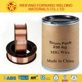 0.8mm Spule 15kg/ABS MIG-Schweißens-Draht CO2 Schweißens-Produkt mit dem Kupfer beschichtet
