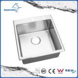 Single-Bowl de alta qualidade dissipador feitos à mão o dissipador de Aço Inoxidável (ACS4550R)