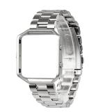 Para Banda Wearlizer Fitbit Blaze, Faixa de Relógio inteligente com estrutura metálica da correia de substituição de Aço Inoxidável Fitbit Blaze - Prata