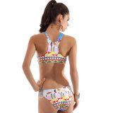 Zweiteiliger hoher Stutzen-Bikini