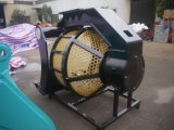 掘削機はスクリーナーのバケツを回すスクリーナーのバケツを分ける