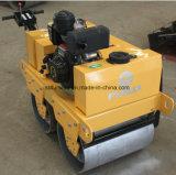 motor diésel de mano de doble tambor rodillo de asfalto