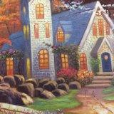 直接工場キャンバスの卸し売り秋の景色の景色の油絵