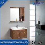 簡単な壁のコーナーの純木の贅沢な浴室の虚栄心