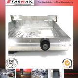 Kundenspezifischer Blech-Herstellungs-Metallkasten mit dem grauen Puder beschichtet