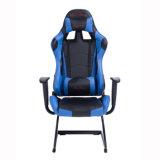 Spiel-Art-Rückseite PU-ledernes Metallrahmen-Büro-Stuhl-Blau hoch laufen