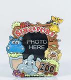 무지개와 각종 동물성 로고를 가진 귀여운 일요일 디자인 PVC 사진 프레임