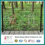 オランダの金網Fence/PVCは緑色の溶接された鉄のパネルの/Hollandの塀に塗った