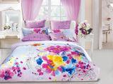 100%Cotton mit reagierender gedruckter Bettwäsche stellte ein (YH1454)