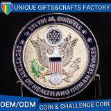 Monete antiche del metallo di sfida del regalo dello smalto 3D