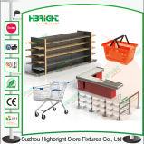 Double Handle Portable Plastic Shopping Basket pour Supermarket