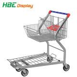 Supermarkt-Einkaufswagen, Logistik-Ladung-flache Laufkatze