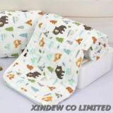 極度の柔らかい及び通気性の6つの層によって印刷される綿モスリンの赤ん坊毛布