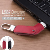 Unidad flash USB de cuero con clave gratuita Finder 8GB 16GB Pen Drive