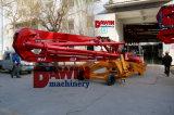 13m 15m 17m hormigón pluma de distribución con 4 ruedas del remolque