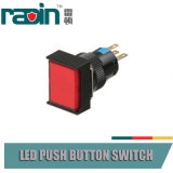 pulsador del interruptor de la palanca de la luz de indicador del montaje del panel de 30m m 16m m