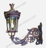 La luz de la calle de hierro fundido, fundición de hierro Lámpara de jardín