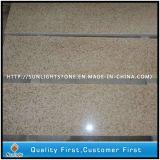 Poli naturel G682 Rusty marches de pierre de granit jaune/ escaliers