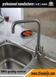 Robinet d'évier en cuisine poli miroir en acier inoxydable