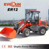 Машины Everun аграрные затяжелитель колеса 1.2 тонн миниый с сражаются ведро