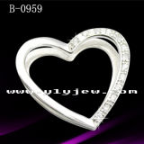 925 Sterling Silver Pendant Heart Pendant mit Stone
