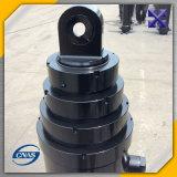Atuação telescópica do cilindro hidráulico de caminhão de descarga única
