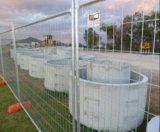 Clôture métallique à clôture temporaire