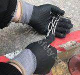 Перчатка работы хлопка с окунать нитрила Sandy (N1585)