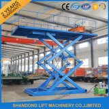 Mobile portable Fixed Hydraulic Scissor in Ground Because Top spin