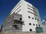 Almacén galvanizado prefabricado de la estructura de acero con el panel de pared de emparedado del EPS