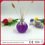 Bouteille d'aromathérapie en verre rond en bouteille en gros avec diffuseur Reed