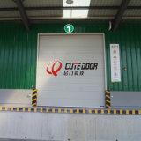 Дверь промышленной автоматической алюминиевой панели цвета Анти--Ветра стальной секционная