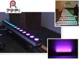 12X10W RGBW 4 en 1 luz ligera de la barra de la tira del trazador de líneas de la inundación de la arandela de la pared de la etapa LED
