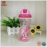 garrafa de água infantil do treinamento 350ml com palha
