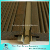 Sitio de bambú pesado tejido hilo al aire libre de bambú 50 del chalet del suelo del Decking