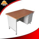 Bureau de bureau en acier à usage scolaire avec tiroir