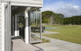 Puertas de plegamiento de aluminio colgantes clásicas de la doble vidriera del patio exterior de los sistemas