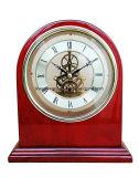 Reloj esquelético magnífico del final del piano del palo de rosa