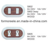 6A 250V南アメリカの壁スイッチ/Oneの一団スイッチ/Electricalスイッチ