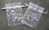 Organza Gift Bag con Heart Printing