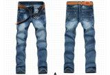 1568 Mann-Form-waschende Indigo-Blau-Denim-Jeans