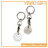 도매 (YB-MK-02)를 위한 주문 로고 금속 동전 열쇠 고리