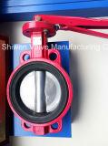 Válvula de borboleta de borracha do assento da extremidade do sulco com o CCC aprovado